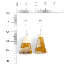Load image into Gallery viewer, Prehistoric_ivory_and_resin_Hook_earringsMustard_gold_jewellery