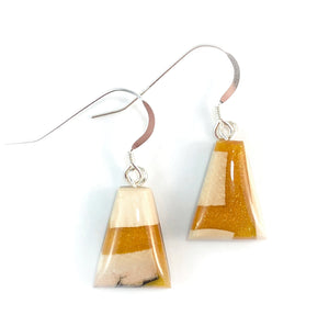 Prehistoric_ivory_and_resin_Hook_earringsMustard_gold_jewelry