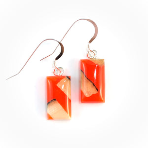 Prehistoric_ivory_and_resin_Hook_earrings_orange