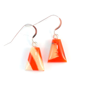 Prehistoric_ivory_and_resin_Hook_earrings_orange_jewelry