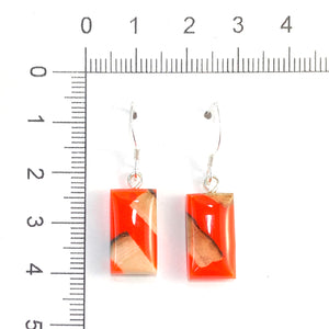 Prehistoric_ivory_and_resin_Hook_earrings_orange_size
