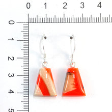 Load image into Gallery viewer, Prehistoric_ivory_and_resin_Hook_earrings_orange_size