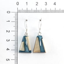 Load image into Gallery viewer, Prehistoric_ivory_and_resin_earrings_gray_size
