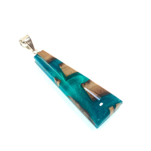 Emerald Ice Rectangle Pendant