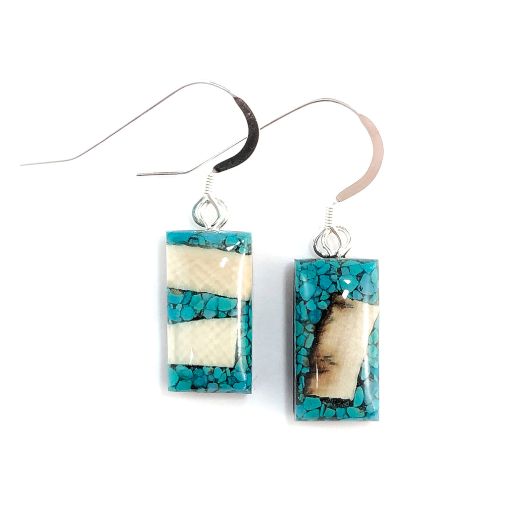 Turquoise_and_Mammoth_ivory_earrings