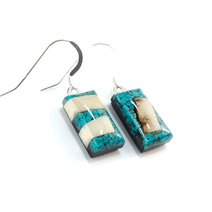 Turquoise_and_Mammoth_ivory_earrings_side_view