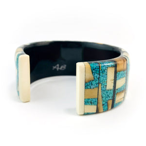 Turquoise_and_mammoth_ivory_bracelet