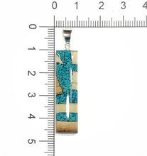 Load image into Gallery viewer, Turquoise Dima Rectangle Pendant