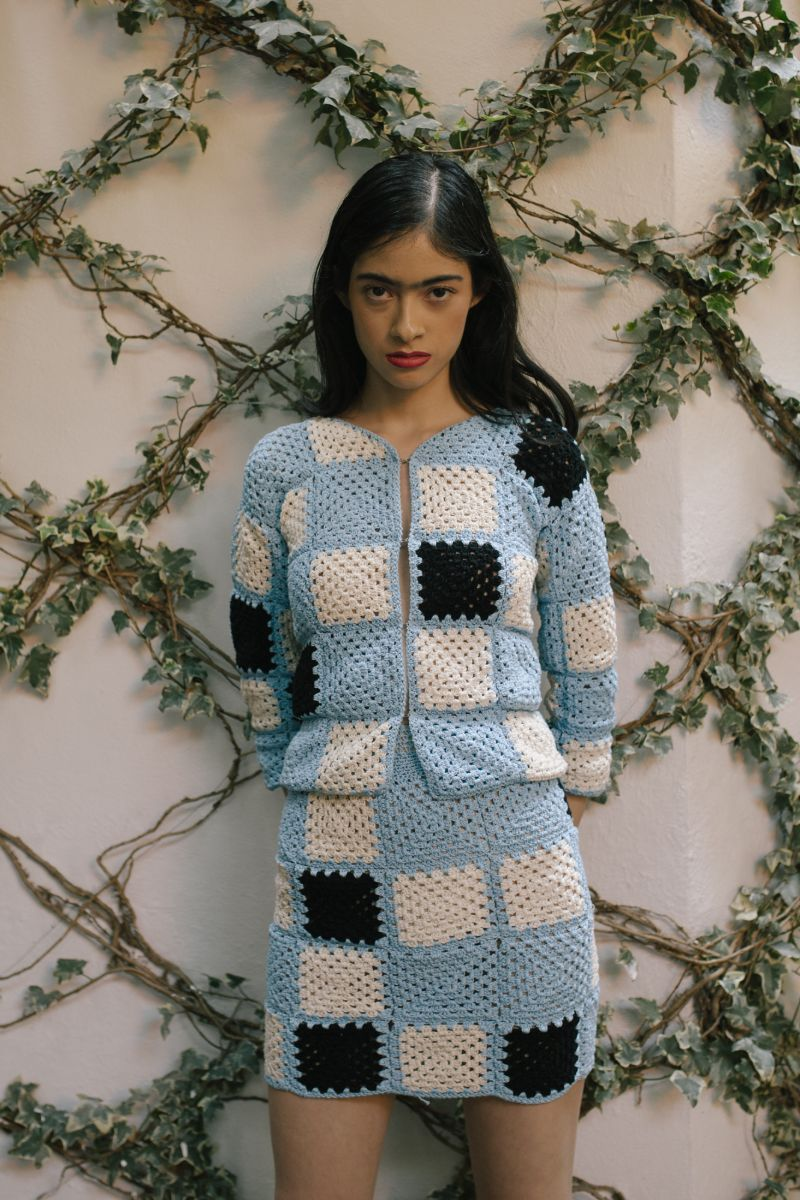The Marta Sweater in Dreamboat Blue