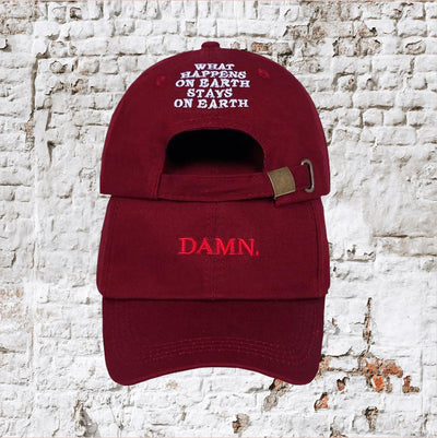 Embroidered  KENDRICK LAMAR DAMN Dad Cap