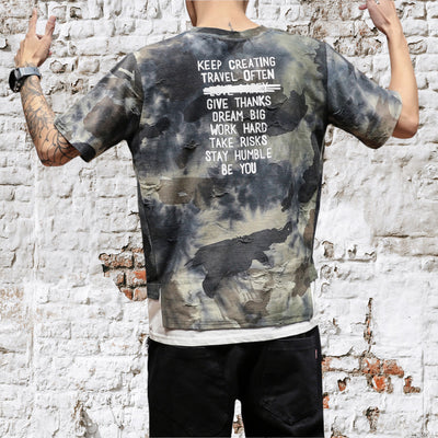 Ripped Camouflage Tee