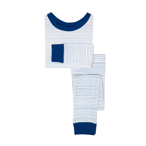 Kids Pajamas Cobalt Stripe