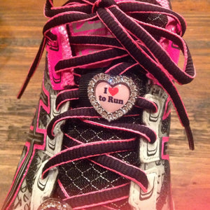 I heart to run pink