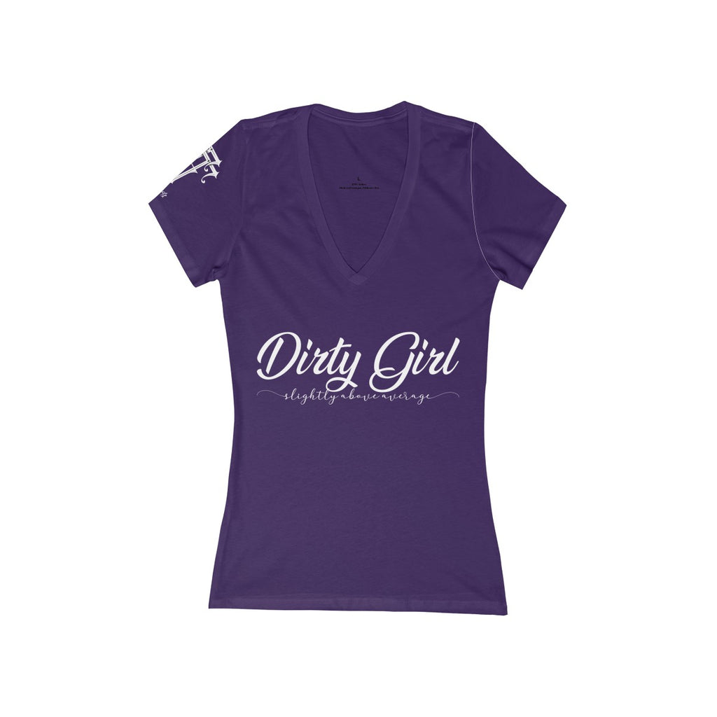 Women's Dirty Girl Deep V-Neck Tee