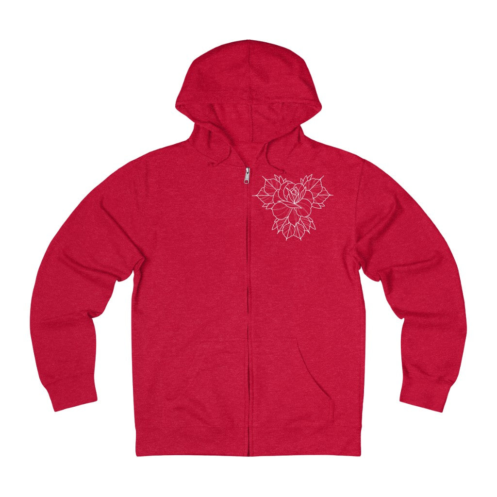 Unisex Crimson Tattoo Co.  Zip Up Hoodie