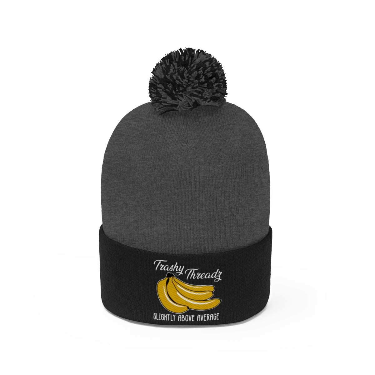 Slightly Above Average Pom Pom Beanie