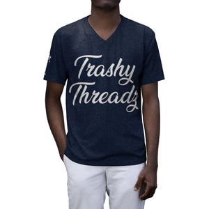 Trashy Threadz Men's Tri-Blend V-Neck T-Shirt