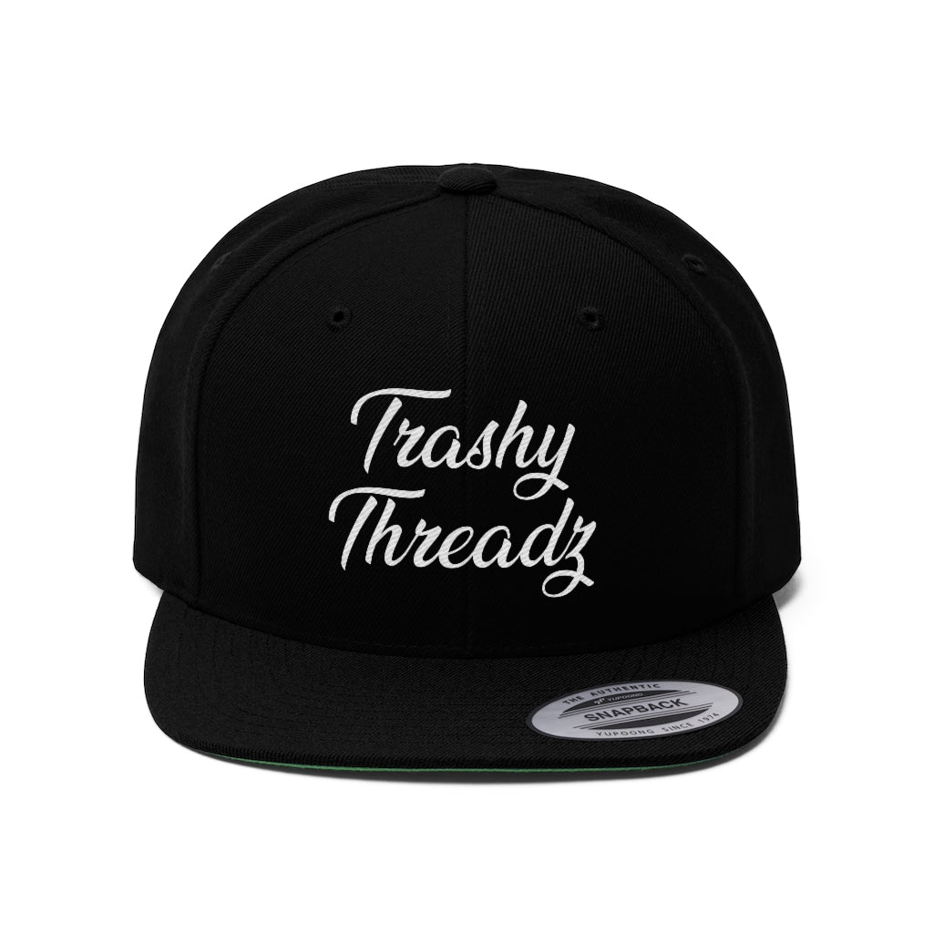 Trashy Threadz Unisex Flat Bill Hat