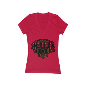 Women's Crimson Tattoo Deep V-Neck Tee