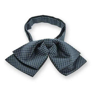 Dark Blue Henry Grain Pattern Floppy Bow Tie