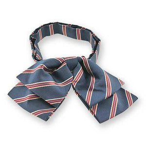 Denim Blue Melvin Stripe Floppy Bow Tie
