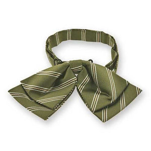 Moss Green Melvin Stripe Floppy Bow Tie
