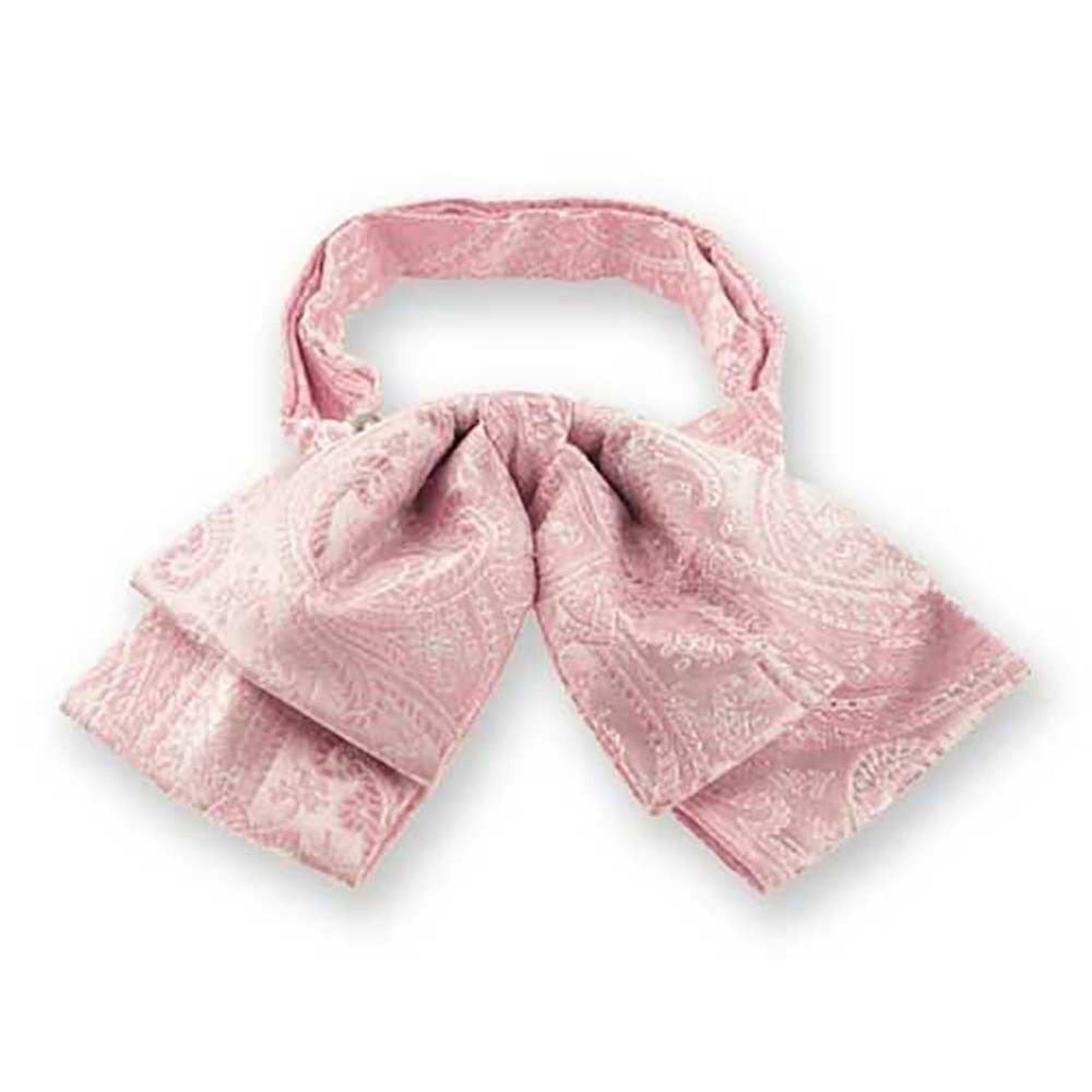 Pale Pink Clara Paisley Floppy Bow Tie