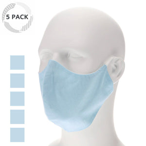 5 pack light blue face mask