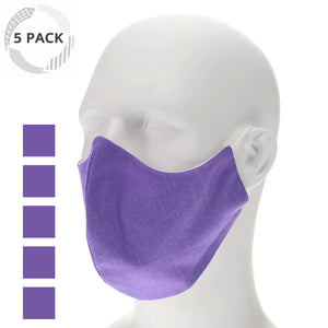5 pack purple face mask