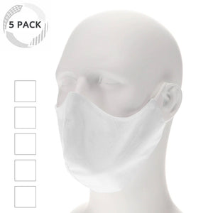 5 pack white face mask