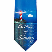 Load image into Gallery viewer, Custom light house sound of sunday tie