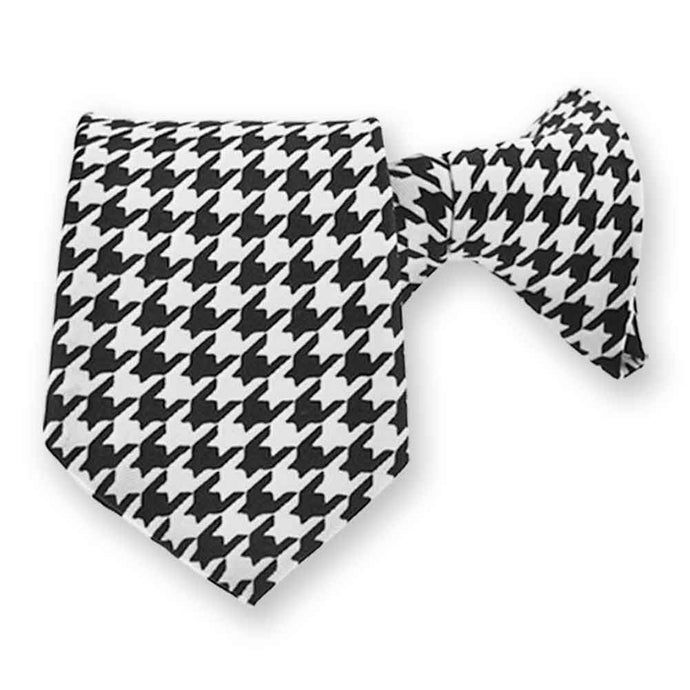 Boys' Houndstooth Clip-On Tie