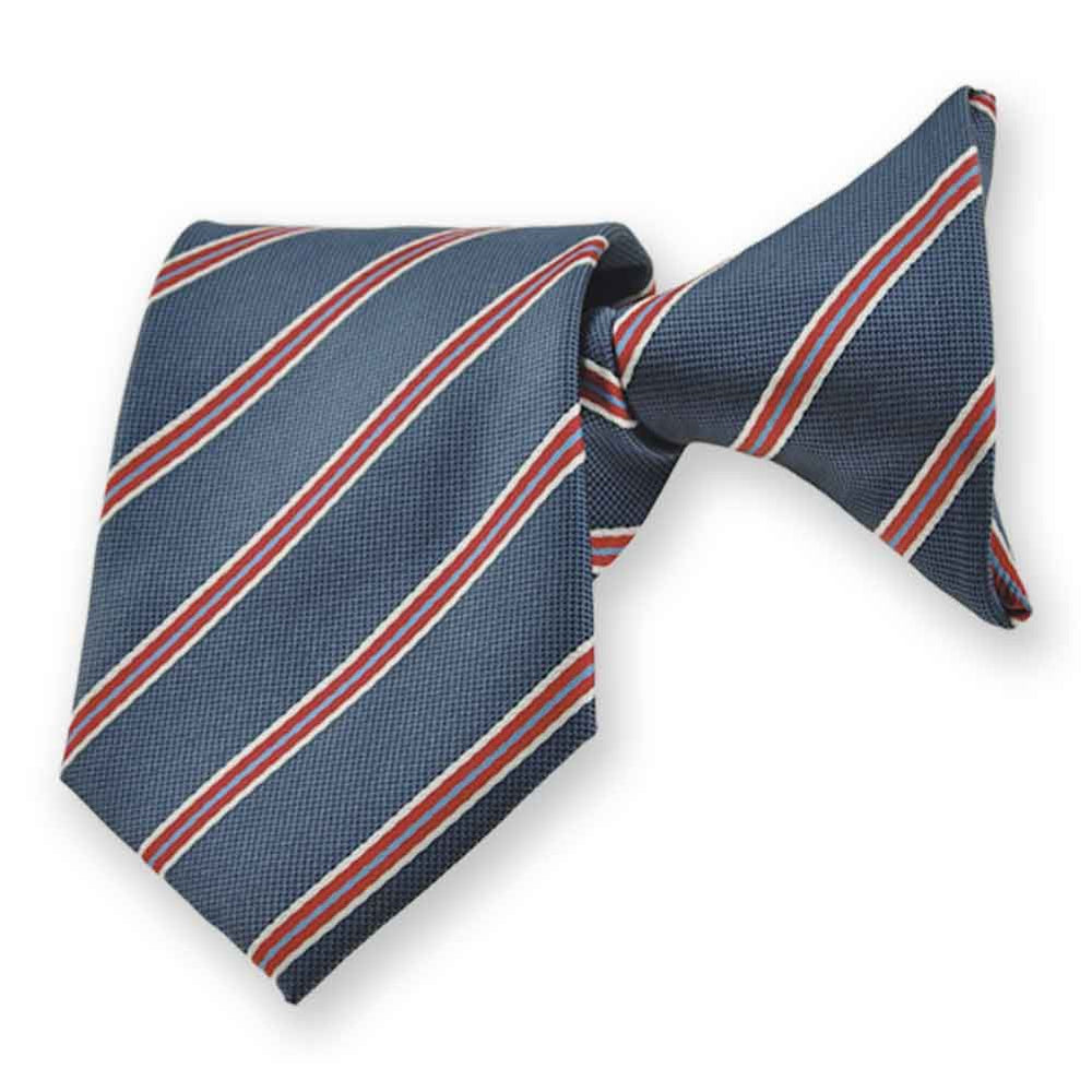 Boys' Denim Blue Melvin Stripe Clip-On Tie