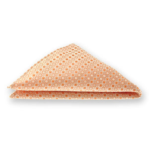 Bright Tangerine Marie Square Pattern Pocket Square