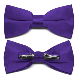Amethyst Purple Clip-On Bow Tie