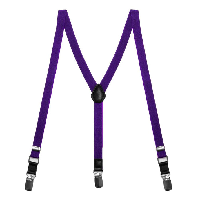 Amethyst Purple Skinny Suspenders