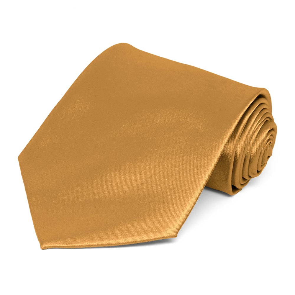 Antique Gold Solid Color Necktie