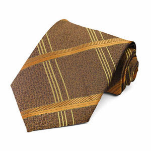 Antique Gold Fresno Plaid Necktie
