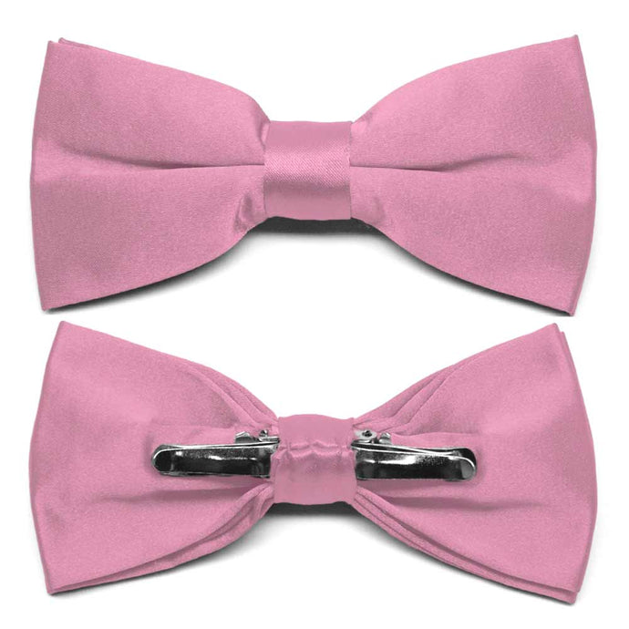 Antique Pink Clip-On Bow Tie