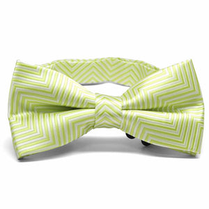 Apple Green Kimberly Chevron Stripe Band Collar Bow Tie