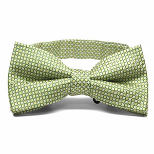 Apple Green Henry Grain Pattern Band Collar Bow Tie