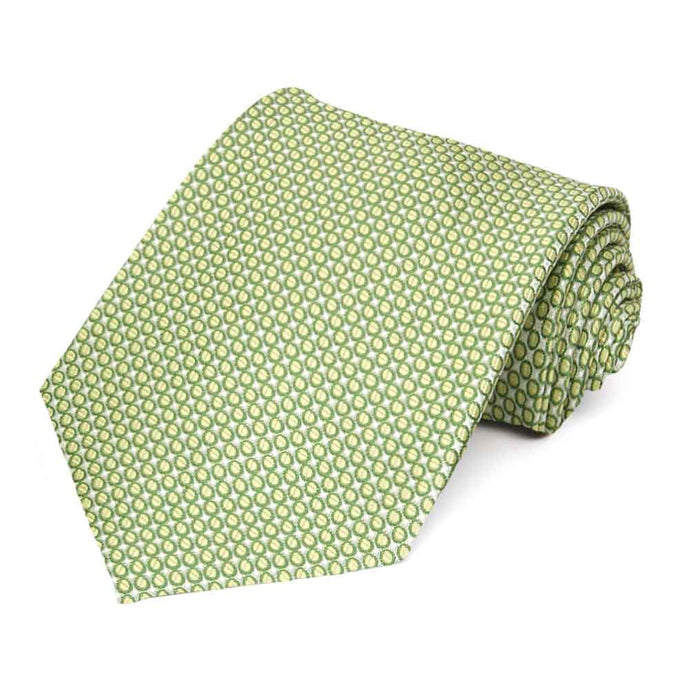 Apple Green Henry Grain Pattern Extra Long Necktie