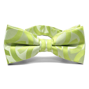 Apple Green Kay Link Pattern Band Collar Bow Tie