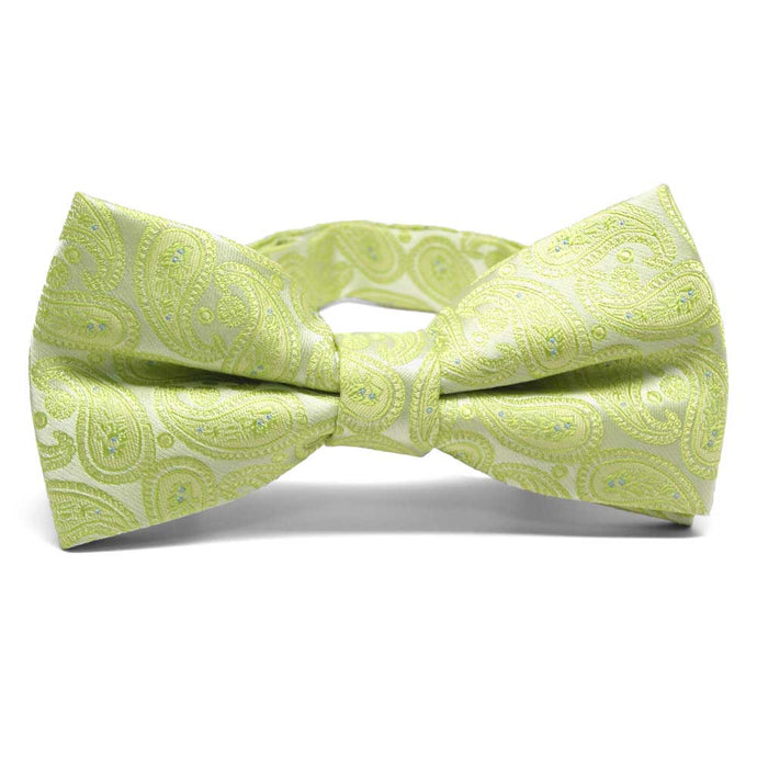 Apple Green Darlene Paisley Band Collar Bow Tie