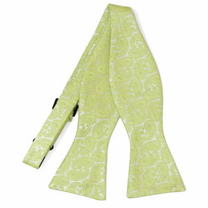 Apple Green Darlene Paisley Self-Tie Bow Tie