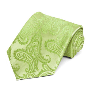Apple Green Sutter Paisley Extra Long Necktie