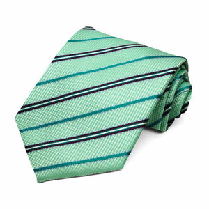 Aquamarine Oakland Striped Necktie
