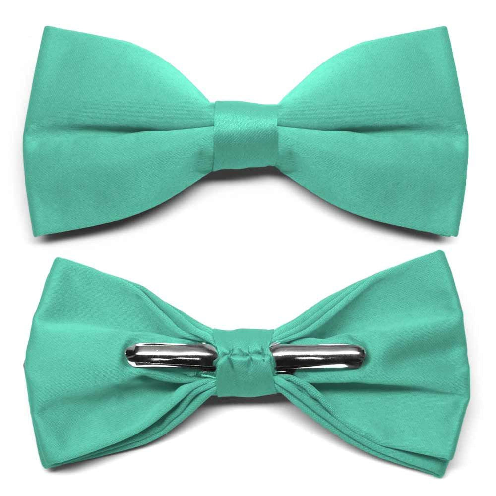 Aquamarine Clip-On Bow Tie