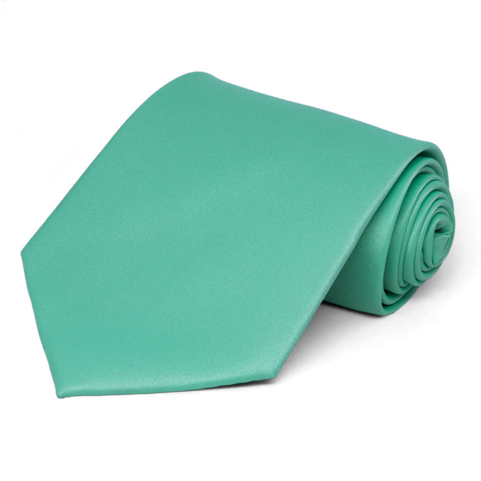 Aquamarine Extra Long Solid Color Necktie