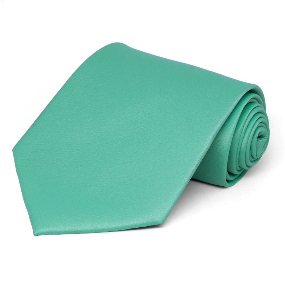 Aquamarine Solid Color Necktie